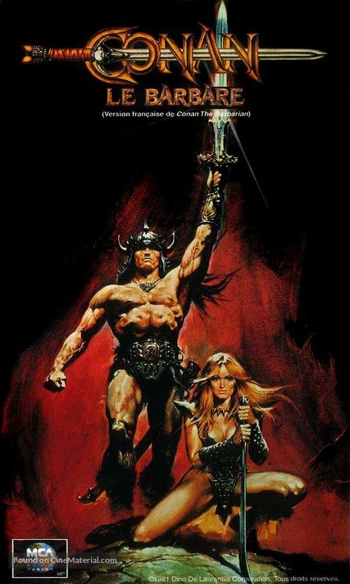 Conan The Barbarian - French Movie Poster