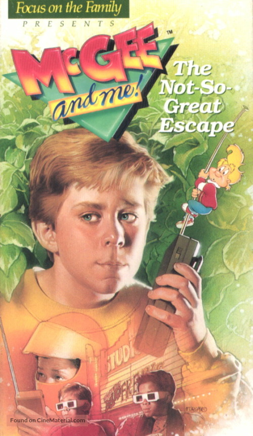 """""""The Adventures of McGee and Me"""" - VHS movie cover"""