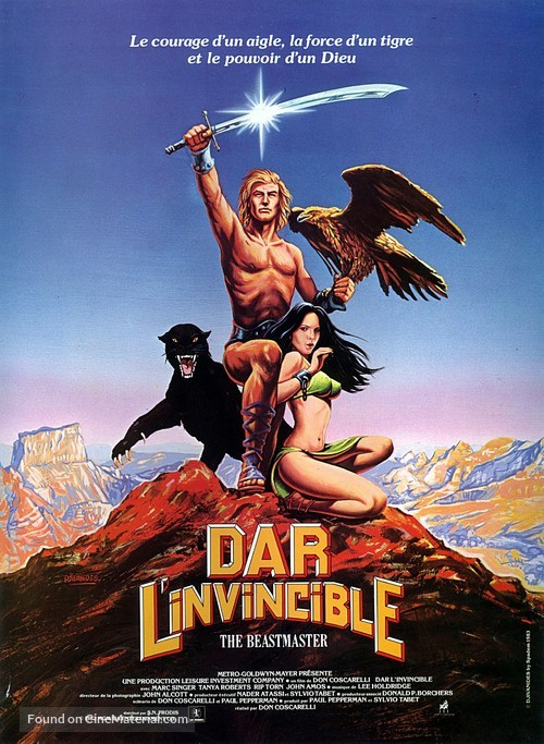 The Beastmaster - French Movie Poster