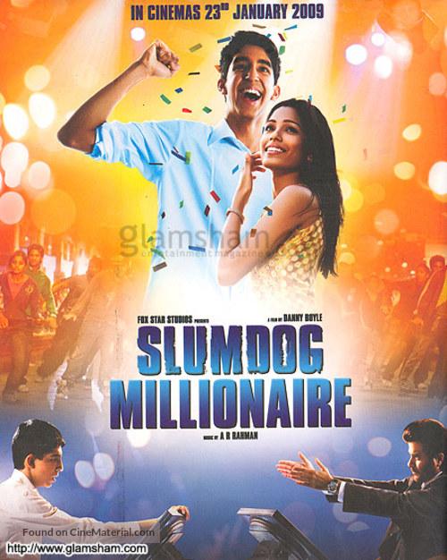 Slumdog Millionaire 2008 Indian Movie Poster
