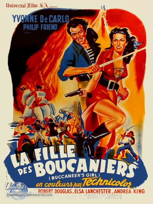 Buccaneer's Girl - French Movie Poster