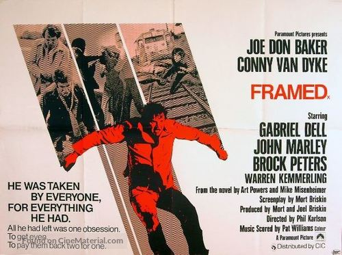 Framed - British Theatrical poster