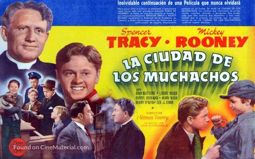 Men of Boys Town - Spanish Movie Poster