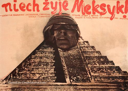 ¡Que viva Mexico! - Polish Movie Poster