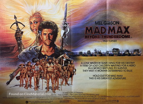 Mad Max Beyond Thunderdome - British Movie Poster