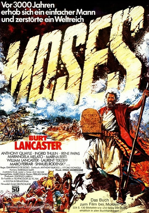 """""""Moses the Lawgiver"""" - German Movie Poster"""