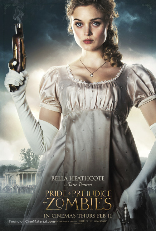 Pride and Prejudice and Zombies - British Movie Poster
