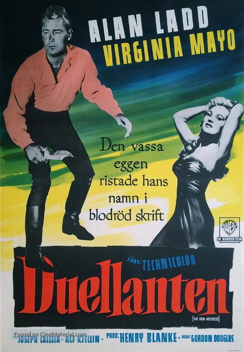 The Iron Mistress - Swedish Movie Poster