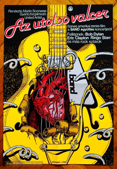The Last Waltz - Hungarian Movie Poster
