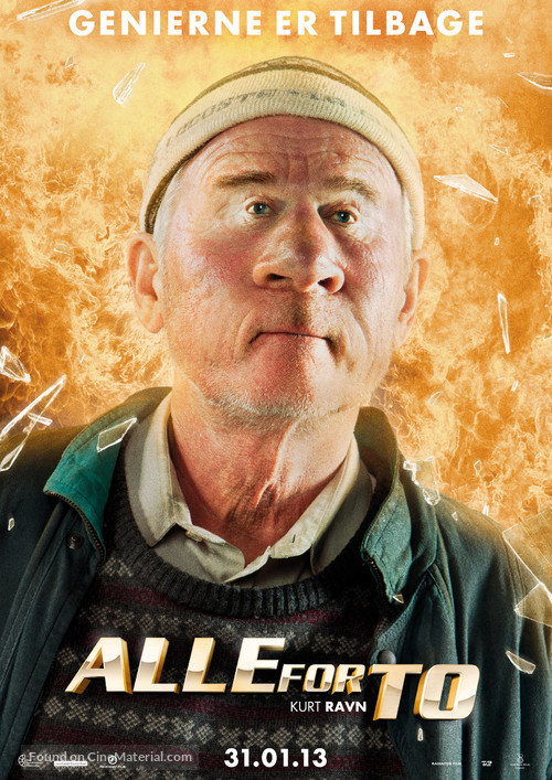 Alle for to - Danish Movie Poster