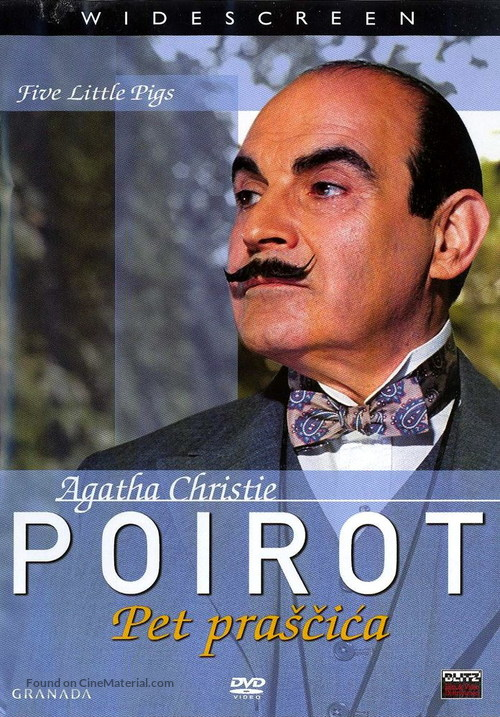 """Poirot"" Five Little Pigs - Croatian poster"