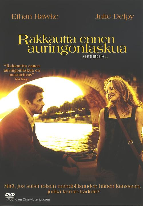 Before Sunset - Finnish Movie Cover
