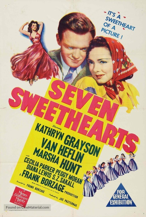 Seven Sweethearts - Australian Movie Poster