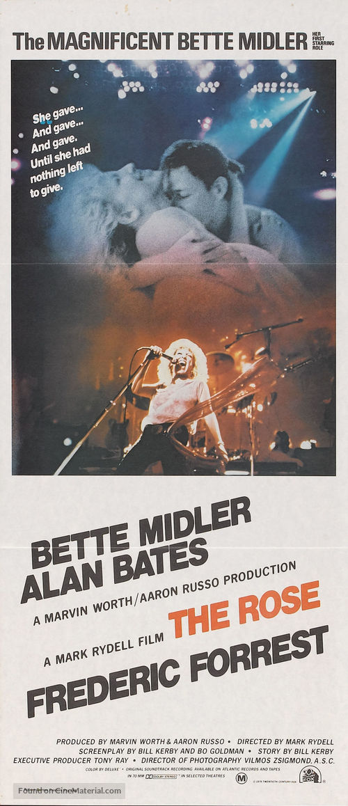 The Rose - Australian Movie Poster