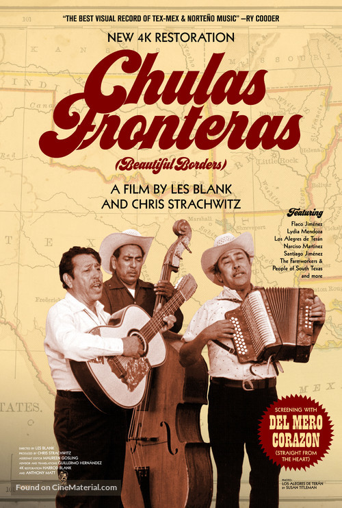 Chulas Fronteras - Re-release movie poster