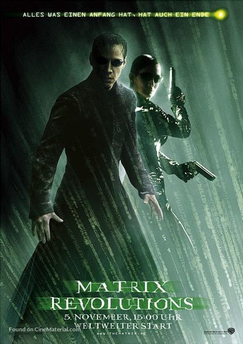 The Matrix Revolutions - German Movie Cover