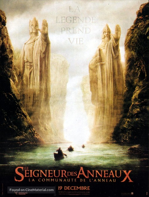 The Lord of the Rings: The Fellowship of the Ring - French Movie Poster