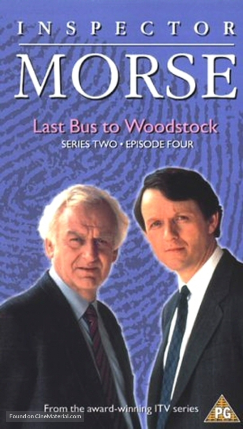 """""""Inspector Morse"""" - British VHS movie cover"""