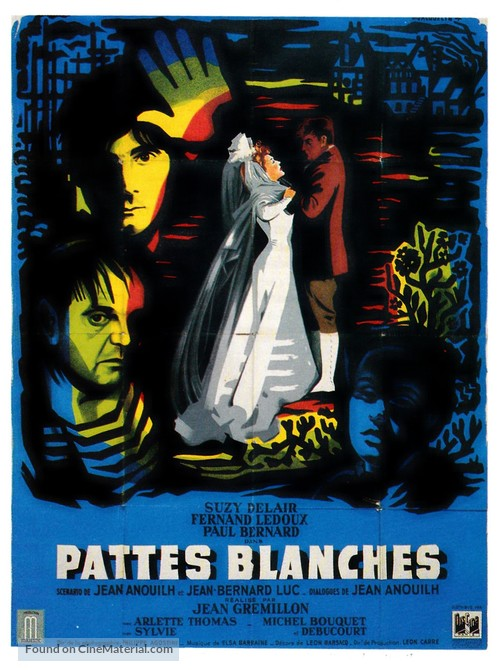 Pattes blanches - French Movie Poster