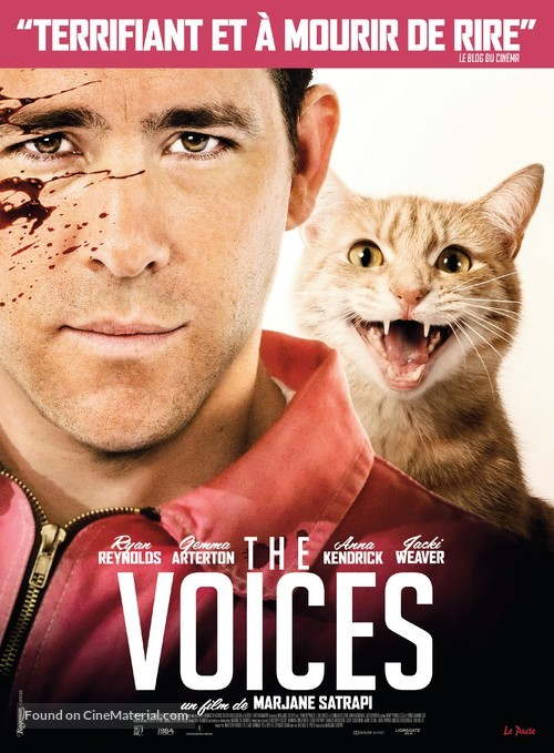 The Voices - French Movie Poster