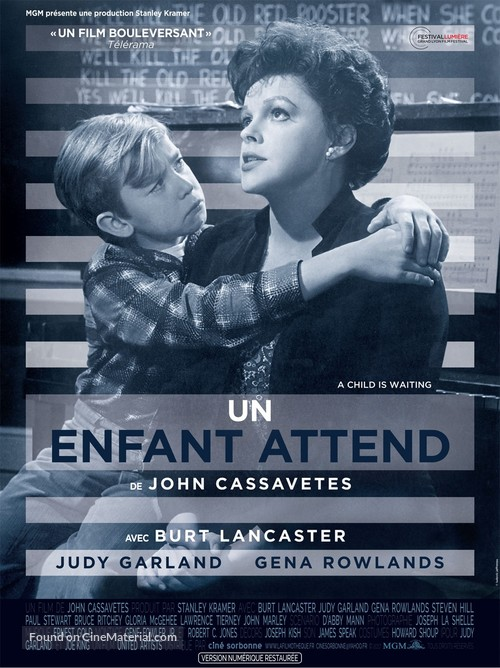 A Child Is Waiting - French Re-release movie poster