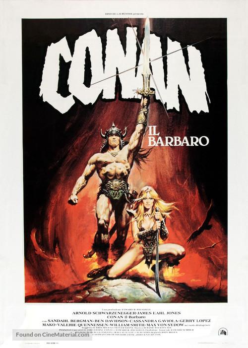 Conan The Barbarian - Italian Movie Poster