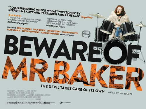 Beware of Mr. Baker - British Movie Poster
