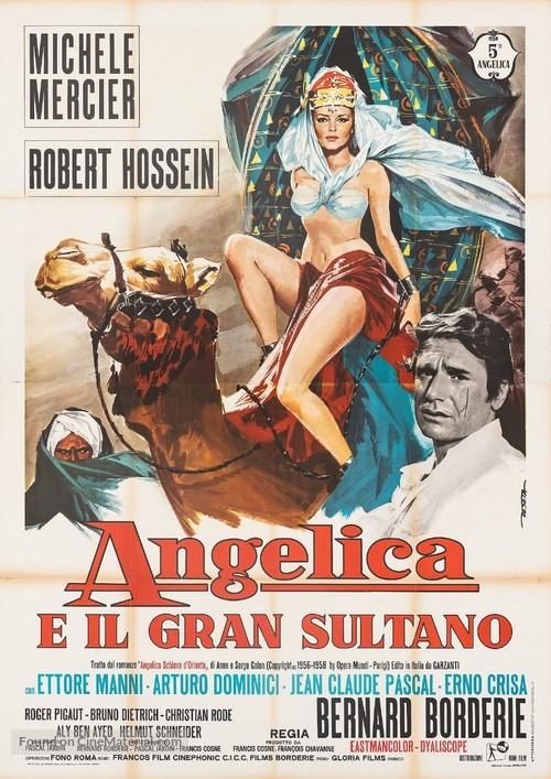 Angélique et le sultan - Italian Movie Poster