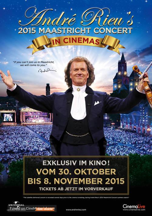André Rieu's 2015 Maastricht Concert - Swiss Movie Poster