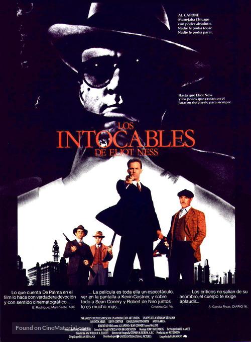 The Untouchables - Spanish Movie Poster