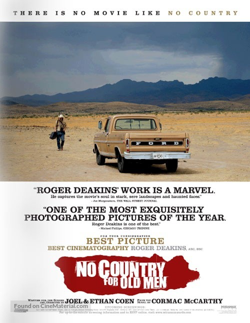 No Country for Old Men - For your consideration poster