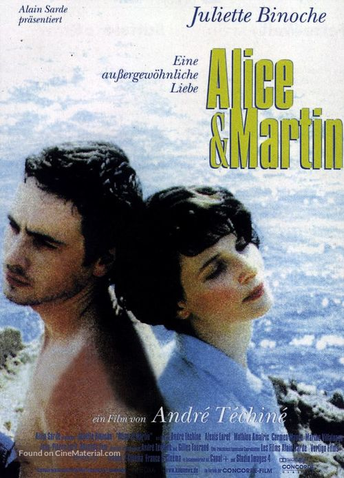Alice et Martin - German Movie Poster