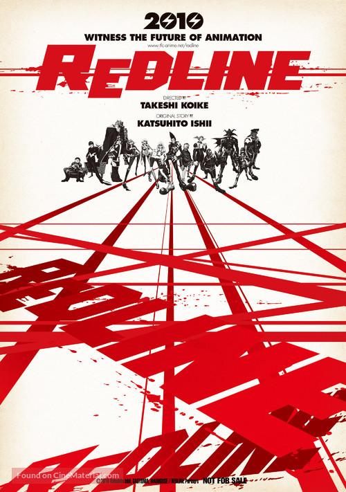 Redline 2009 Japanese Movie Poster