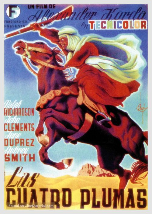The Four Feathers - Spanish Movie Poster