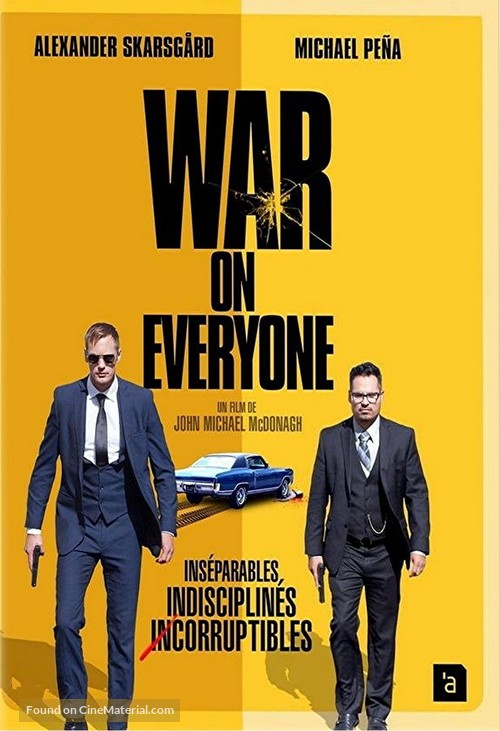 War on Everyone - French DVD movie cover