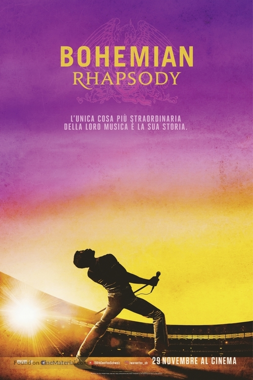 Bohemian Rhapsody - Swiss Movie Poster