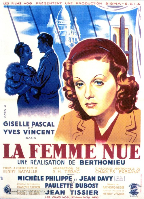 La femme nue - French Movie Poster