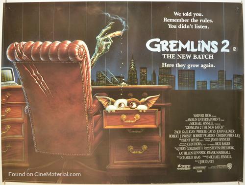 Gremlins 2: The New Batch - British Movie Poster