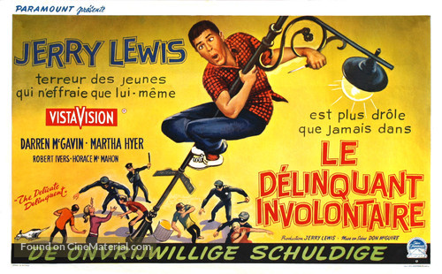 The Delicate Delinquent - Belgian Movie Poster