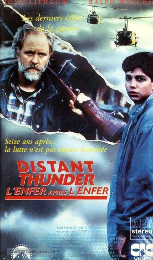 Distant Thunder - French VHS movie cover