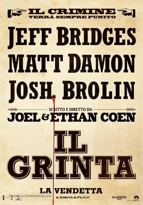 True Grit - Italian Movie Poster