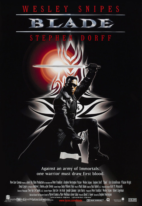 Blade - Video release movie poster