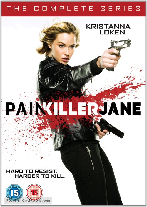 """Painkiller Jane"" - British DVD movie cover"