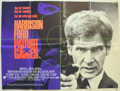 Patriot Games - British Movie Poster