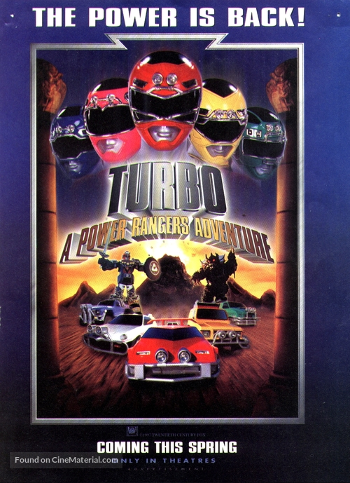 Turbo: A Power Rangers Movie - Movie Poster