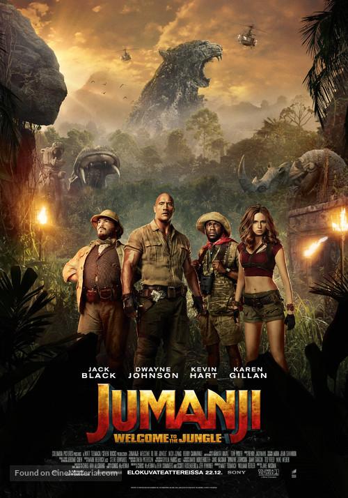 Jumanji: Welcome to the Jungle - Finnish Movie Poster
