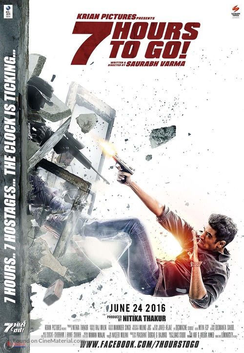 7 Hours to Go - Indian Movie Poster