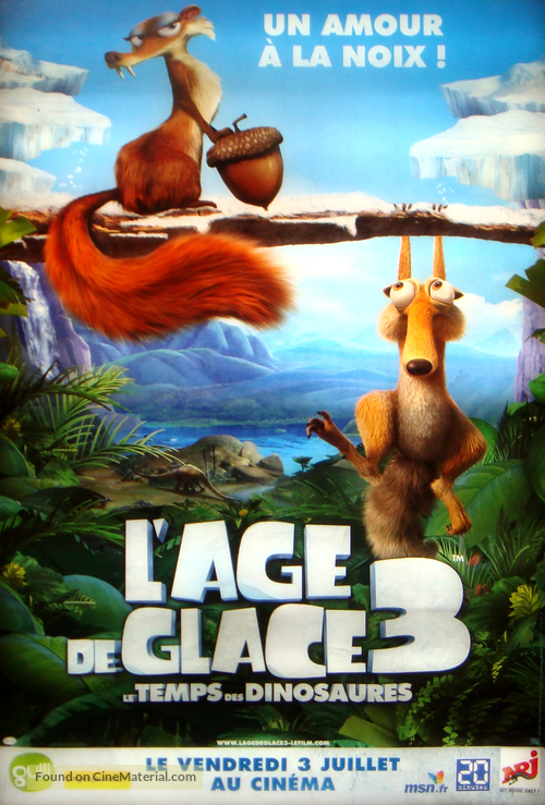 Ice Age Dawn Of The Dinosaurs 2009 French Movie Poster
