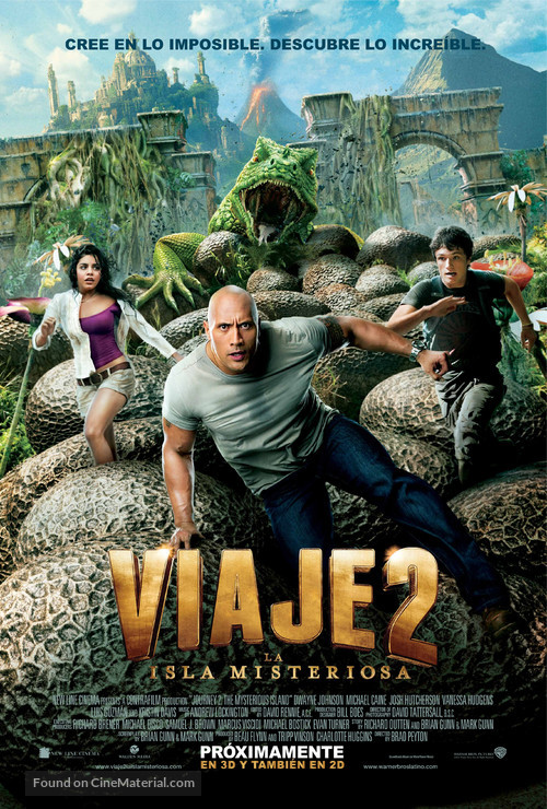 Journey 2: The Mysterious Island - Mexican Movie Poster