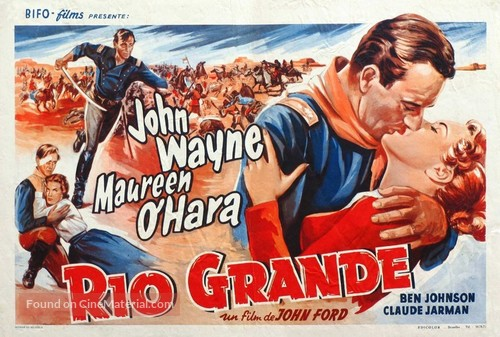 Rio Grande - Belgian Movie Poster